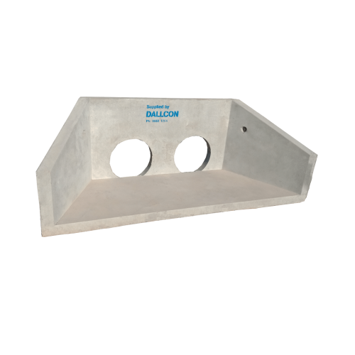 precast concrete double pipe headwalls