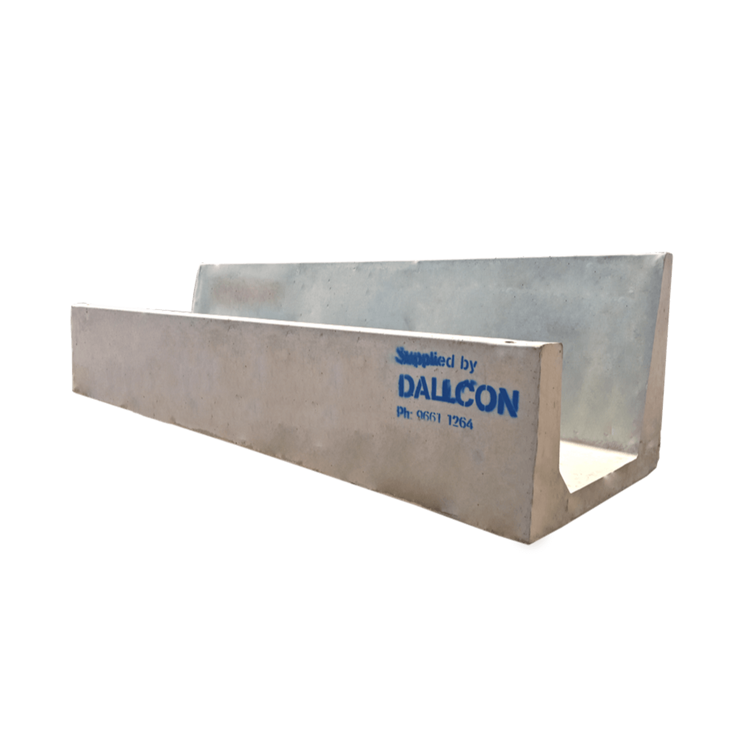 Precast concrete feed trough