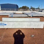 concrete feed troughs and footings