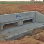 installed concrete box culverts in agricultural farm