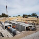 installation of box culverts and drainage pipe