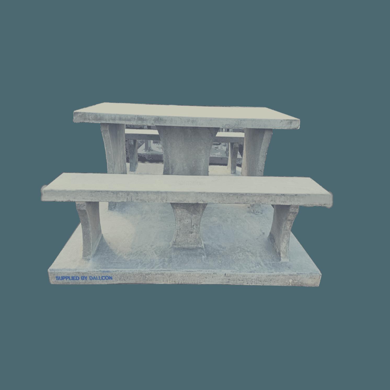 Precast concrete outdoor seating