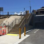 installed precast concrete stairs