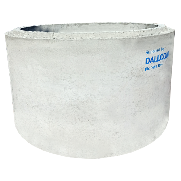 Precast concrete soak wells