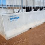 Concrete road barrier