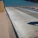 concrete boat ramp on site