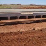 concrete box culverts on road