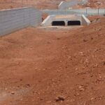 concrete box culverts on road site drainage