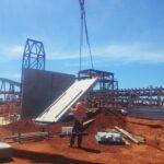 lifting concrete tilt wall panels by crane