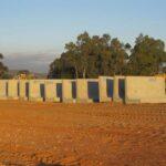 pile of concrete l blocks