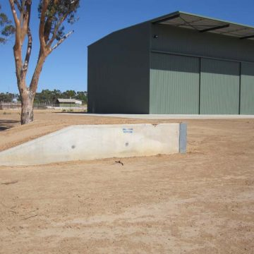 installed concrete loading ramps