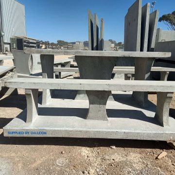 concrete outdoor seating in concrete warehouse
