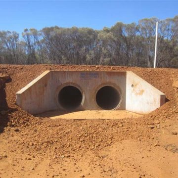 installed concrete pipe headwalls