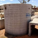 Septic tank at construction site\