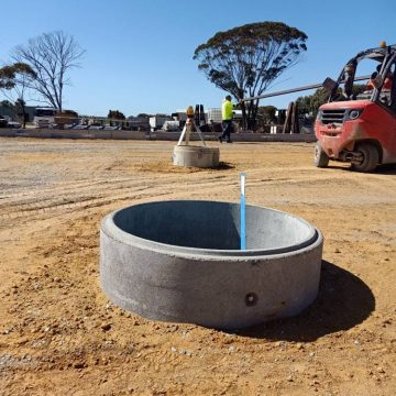 Septic tank at construction site