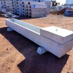concrete stock troughs used for cattle feeding or watering