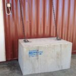 concrete tie down blocks to tie container