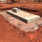 Precast concrete custom footing in construction area