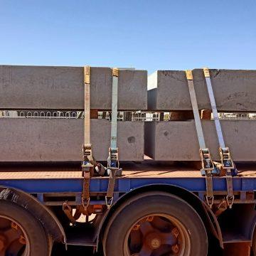 truck carrying box culvert base