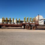 concrete traffic bollards getting delivered