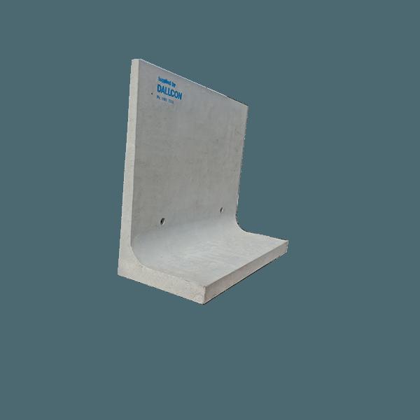Precast concrete L blocks