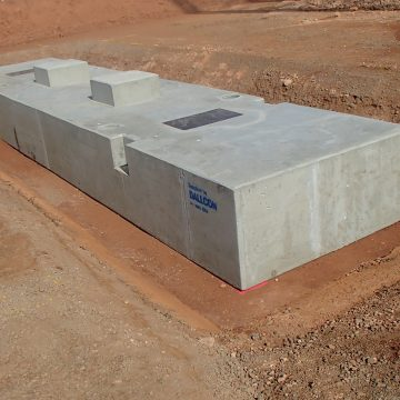 installed precast concrete footings