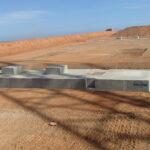 installed precast concrete footings