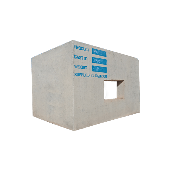 precast concrete rail Communications Pit
