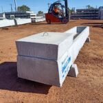 Precast concrete water trough