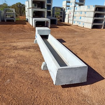 concrete combo water trough and box culverts