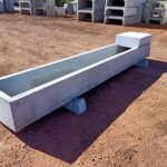 Precast concrete combo water trough