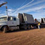 Dallcon custom concrete panel carried by truck