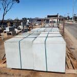 concrete tie down blocks on truck