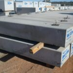 concrete structure footings storage area